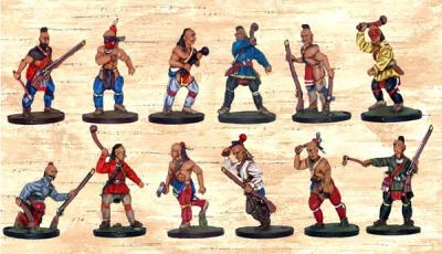 BMM302 Box 2 - Red Indians with Clubs and Tomahawks